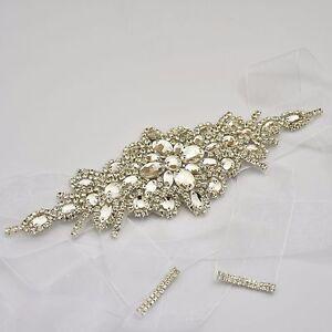 Rhinestone Waist Belt Bridal Wedding Dress Diamante Sash Belt 6 Colours