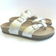 Birkenstock NEW Mayari Women's Silver Leather Sandals Size US 9 Made in Germany