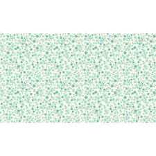 Makower Patchwork Fabric Katie Jane Tonal Floral Turquoise - per 1/4 Metre