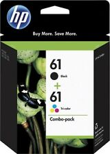 Genuine HP 61 Combo pack Black & Tri Color ink cartridge (CR259FN), Combo 2/Pack