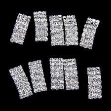 10 Diamante Buckle Ribbon Slider Wedding Invitation Table Decor Craft Supply