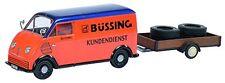 DKW Schnellaster Bussing w/ Trailer & 2 Truck Tires 1949 1:43 Model 2389 SCHUCO