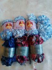 Eyelash wool - Blue and Pink Bundle. 310 grams