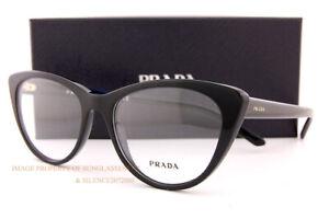 Brand New Prada Eyeglass Frames PR 05XV 1AB Black For  Women Size 53