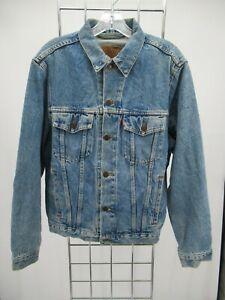 I7081 VTG Men's Levi's Button-Down Denim Trucker Jacket Size S