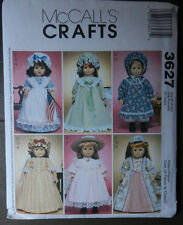 """McCall's Sewing Pattern 3627 18"""" Doll Clothes Old Fashion Entire Wardrobe UNCUT"""