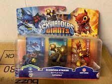 Skylanders Giants Battle Pack New scorpion striker catapult zap & hot dog