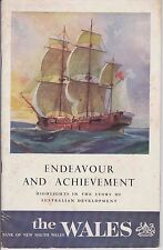 Vintage 1964 The Wales Bank of New South Wales - Endeavour & Achievement Book