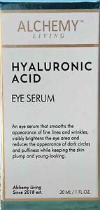 ALCHEMY Living Hyaluronic Acid EYE Serum  30 Ml - 1 Oz NEW!