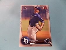 2016 Bowman Draft #BD119 Mikey York Rookie Card Tampa Bay Rays Hudson Valley