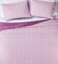 Sketchy Plaid Twin Bed in Bag Purple Lavender Comforter Sheets Sham 6 pc