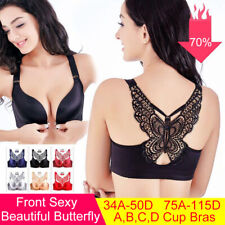 38D Black Bra Solid Wireless Brassiere Extreme Push Up Bra Womens Lingerie 85D