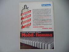 advertising Pubblicità 1964 BOMBOLA GAS MOBIL FIAMMA