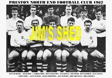 PRESTON NORTH END F.C.TEAM PRINT 1962 (THOMPSON / DAWSON / DONNELLY / KELLY