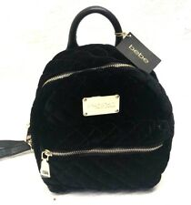 NWT BeBe Black Maria Velvet Quilted Mini Backpack E07-716 MSRP $79