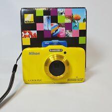 Nikon Coolpix S31 10.1 MP Waterproof Digital Camera Yellow Camera Box Charger