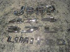 2005 Jeep Liberty Limited CHROME Emblem Set 3.7L and 4x4 OEM Nice