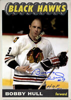 Custom made Topps 1965-66 Chicago Black Hawks Bobby Hull white hockey card
