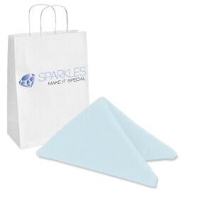 "10 pcs 17""x17"" inch Polyester Cloth Napkin - Light Blue - Wedding Linen ut"