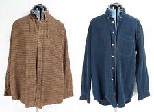 2 Mens Pendleton Corduroy Shirts Large Blue Tan