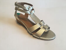 6446c1d3990 FRANCO SARTO UTOPIA women s gold ankle strap wedge sandals US Sz 8M