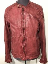 Scotch & Soda Amsterdam Culture Men's Treated Leather Jacket Vintage style New L