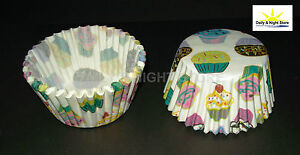 200 CUPCAKE CAKE CASES PATTERN DESIGN MUFFIN PAPER BAKING FAIRY PARTY BIRTHDAY