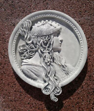 Fassadenstuck, Wandplatte, Relief, Medaillon, Steinguss 19,5 cm Gartendeko, Deko