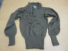 SWEATER MENS COLD WEATHER 100% WOOL SHIRT MILITARY MEDIUM 38-40