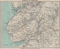 SNOWDONIA SOUTH. Cader Idris. Barmouth Dolgellau Aberdovey. WARD LOCK 1913 map