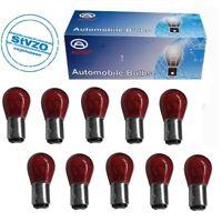 10er Pack PR21/5W BAW15D 12 Volt Rote Rückbremslicht Lampen mit STVZO.LONGLIFE