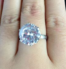 Jewelry Round Zircon Stone Ring White silver Wedding Engagement Rings For Women