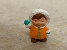 Hallmark 1993 Christmas Merry Miniature Eskimo Child with Gold Sticker