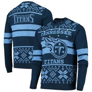 NFL Ugly Sweater Tennessee Titans Jumper LED 2Stripe Light Lighting Xmas