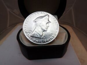 BU 1947-S Philippines Peso Silver Crown MacArthur Defender and Liberator # c1658