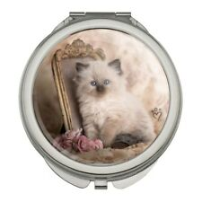 Ragdoll Tiffany Cat Victorian Roses Compact Purse Handbag Makeup Mirror