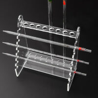 Durable PMMA Pipette Holder Scale Straw Rack Support Stand Trapezoid 1.5cm Hole