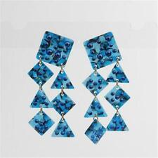 """LeLe Sadoughi Spotlight Chandelier Earrings Sapphire Blue 3"""""""