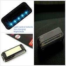 High quality Solar Vibration 6Blue LED Light Car Alarm Security Flash Anti-Theft