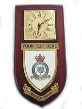 RAF Fighter Command Personalised Wall Clock Plaque UK Made for MOD