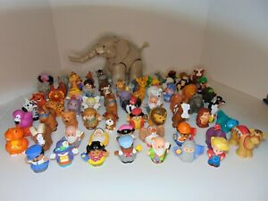 Lot 69 pcs Fisher Price Little People Animals & People Big Musical Elephant