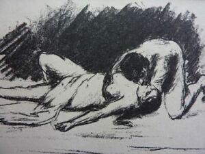 "MAX LIEBERMANN - Original Lithographie 1915 ""Das Beilager"" !"