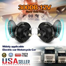 2 Pack 12v 300db Super Loud Train Horn Waterproof For Motorcycles Cars Truck Suv