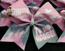 Cheer Bow - Welcome to my house Minnie Disney Summit Worlds   - Hair Bows