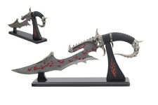 """19"""" Fantasy Axe w/ Table Display Wooden Stand"""