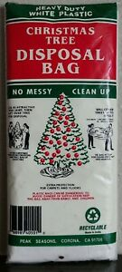 Christmas Tree Disposal Bag Heavy Duty White Plastic up to 8 Feet Recyclable