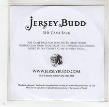 (GD317) Jersey Budd, She Came Back - 2008 DJ CD