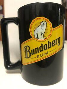 Collectable Bundaberg Rum Advertising Black Mug Mancave Barware Collectable