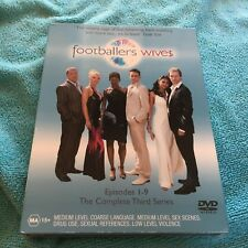 FOOTBALLERS WIVES DVD. EPISODES 1-9. COMPLETE THIRD SEASON. IN CASE