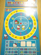 Hello Kitty Learn The Time - Kids Magnetic Clock - Educational Learning Pack 3+